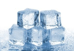 Ice made of potable water