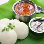 Idli, Sambar and Coconut Chutney