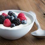 Yogurt with Fresh Mixed Berries